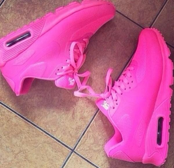 shoes hot pink nike id air max 90 nike air max 90 hot pink sports shoes nike nike air max 90 hyperfuse neon air max