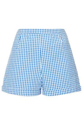 Gingham pocket shorts
