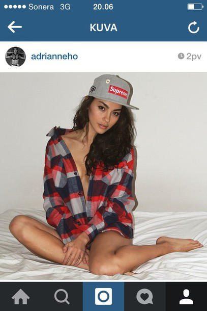 shirt supreme adrianne model flannel shirt