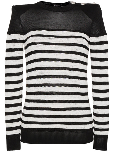 Balmain jumper long women black sweater