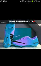 shoes,cleated sole,ombre,purple shoes,blue,boyfriend,needtohave,soccer,nike