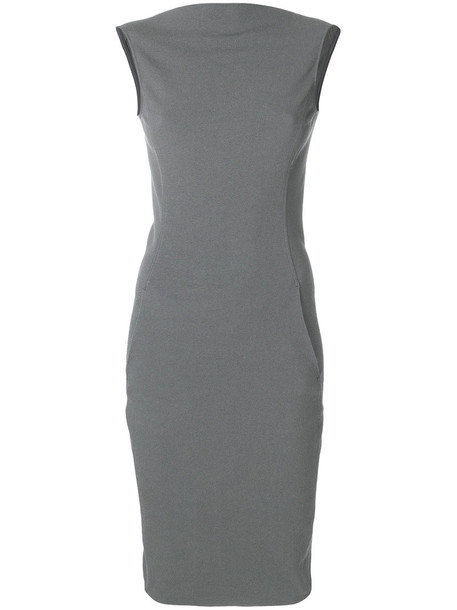 Rick Owens dress back women spandex cotton grey