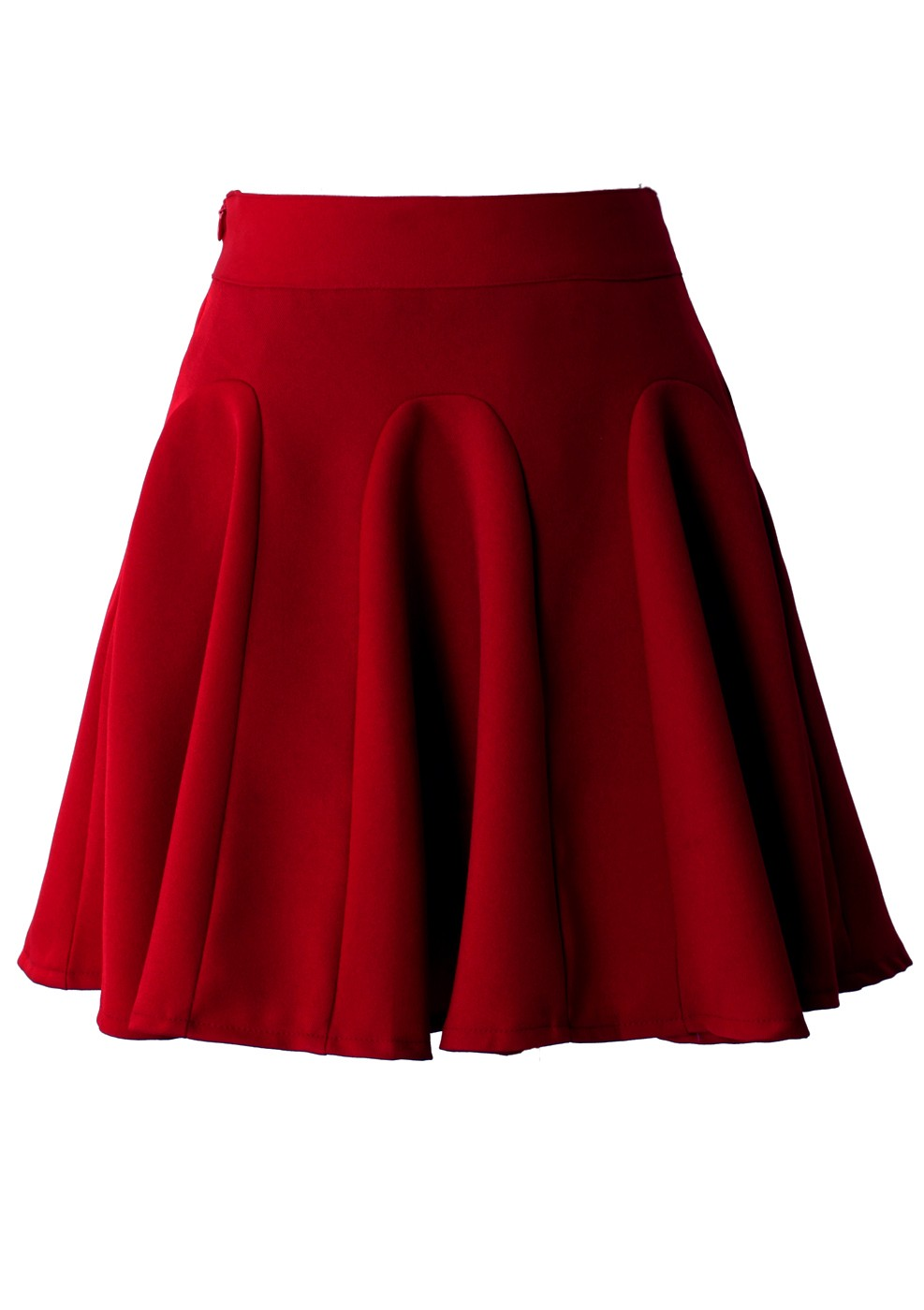 Red High Waist Skater Skirt Retro Indie And Unique Fashion