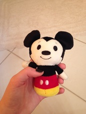 home accessory,black,white,yellow,stuffed animal,mickey mouse,red