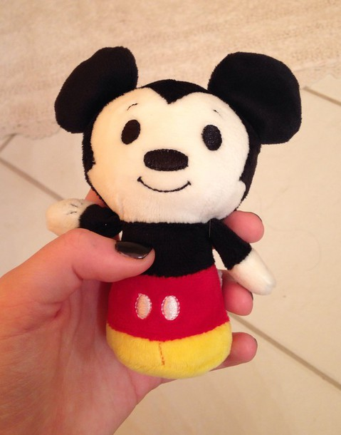 home accessory black white yellow stuffed animal mickey mouse red