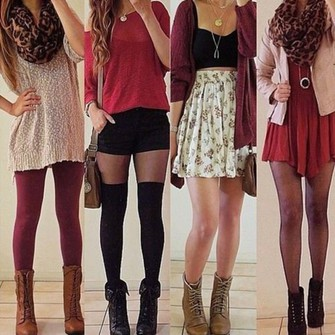 cute cardigan sweater shoes boots shirt shorts dress skirt tights cheetah jewlery scarf red