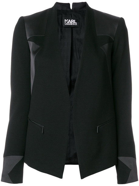 karl lagerfeld blazer women black jacket