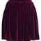 Burgundy velvet skater skirt - topshop