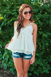 top,ivory,maternity tank,summer outfits,cute clothing