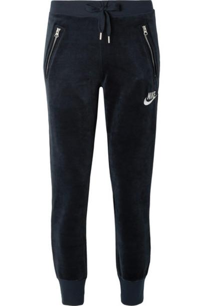 Nike pants track pants blue