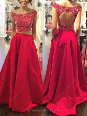 dress red dress prom maxi beautiful fashion gown open back elegant dressofgirl