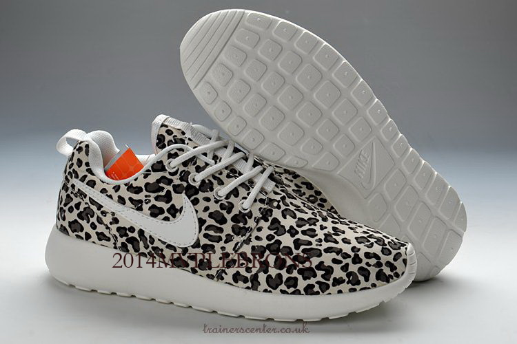 Buy Nike Roshe Run FB Womens Stylish Grey Leopard Sole outlet on sale