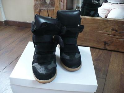 Baskets sneakers isabel marant noir et grise p38 occasion