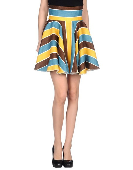 yellow skirt mini skirt stiped skirt blue brown dolce and gabbana