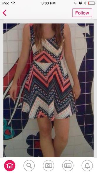 dress aztec sundress casual dress style clothes fashion cute cute dress