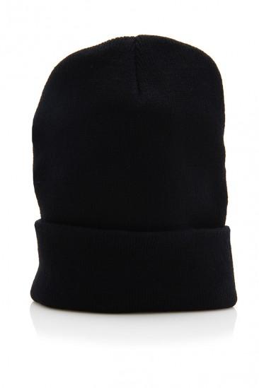 OMG Solid Knit Beanie - Black