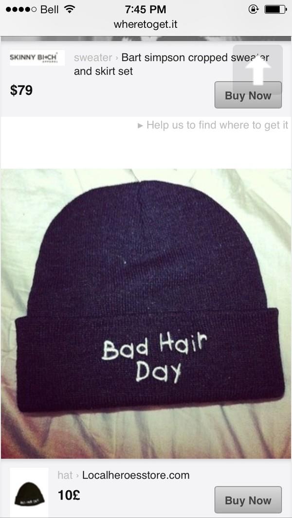 hat bad hair day beanie