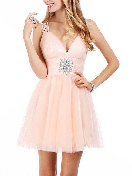 tulle homecoming dress prom backless