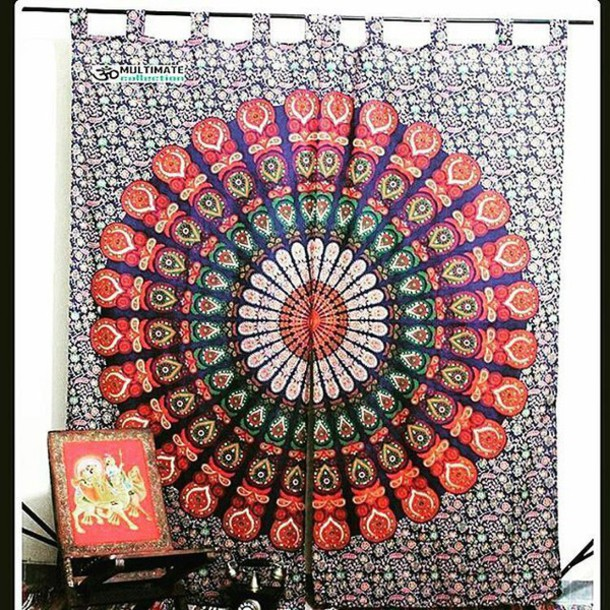 Home Accessory Window Cover Multimatecollection Tapestry Shower Curtain Wall Curtains Beaded Door Psychedelic Tapestries