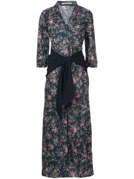 Hellessy dress women cotton blue silk