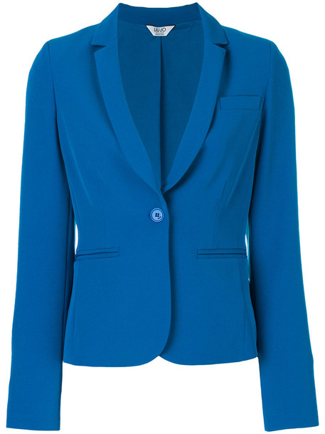 LIU JO blazer women spandex blue jacket