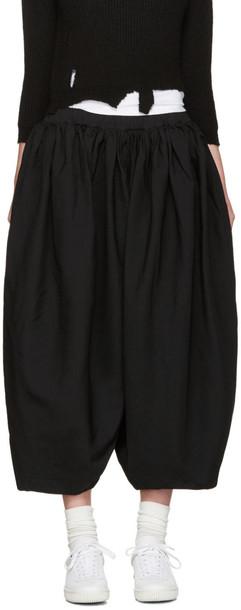 Comme Des Garçons Black Voluminous Pleated Trousers