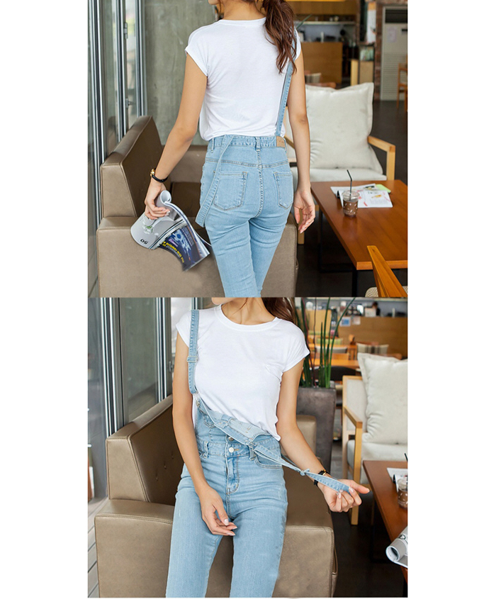 Korean Suspender Light Color Denim Jumpsuits For Women, Shop online for $25.70 Cheap Jumpsuits & Playsuits code 719409 - Eastclothes.com