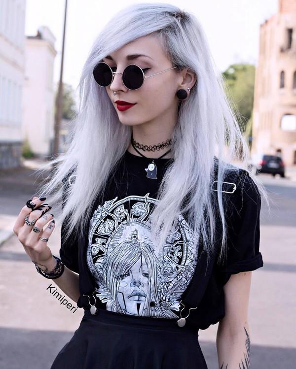 shirt kimiperri nu goth pastel goth cute harajuku goth tumblr kawaii black