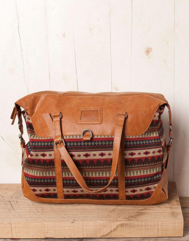 Pull   Bear Aztec Print Bag   accessoires   Pinterest 64cad00d9c5
