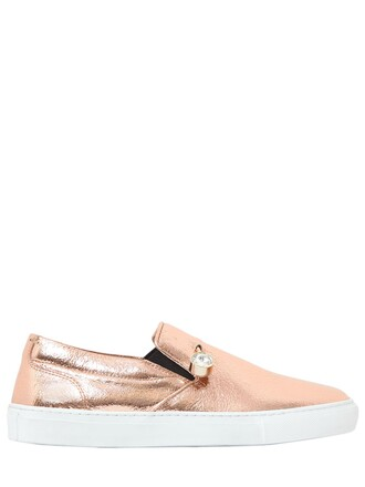 sneakers leather rose gold rose gold shoes