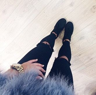 shoes jeans fashion style ripped jeans skinny pants skinny jeans coat