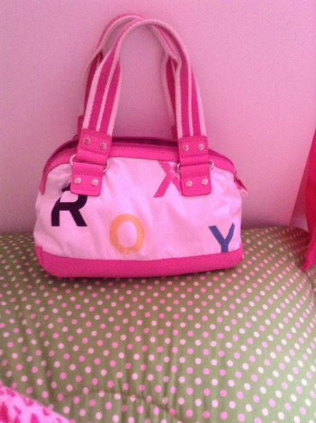 bag roxy bag has colorado pink and white
