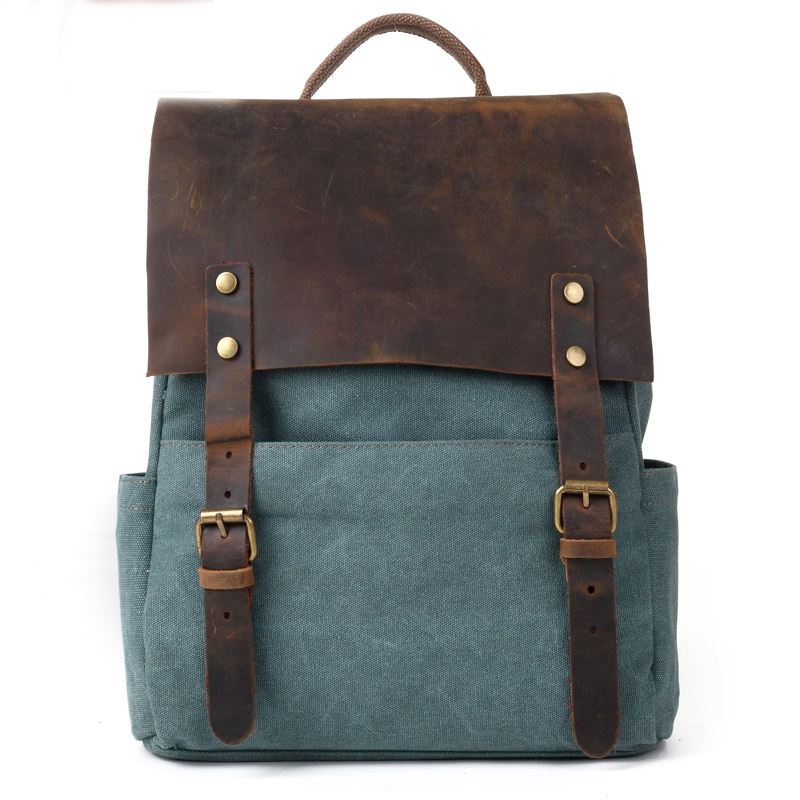 [grhmf22000106]Retro European Style Leisure Canvas Backpack
