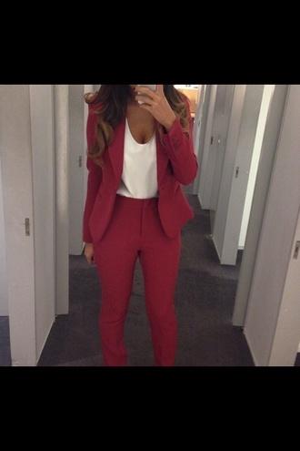 red pants pants classy rich fashion amazing black elegant high waisted