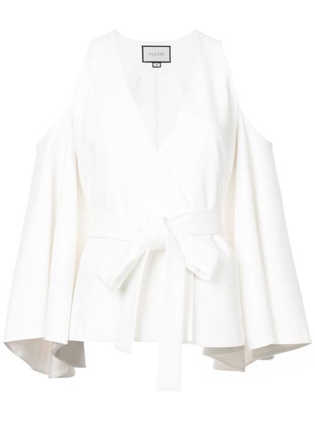 Alexis blouse women spandex cold white top