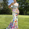 Multicolor two-piece gown