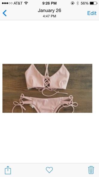 swimwear bikini pink bikini