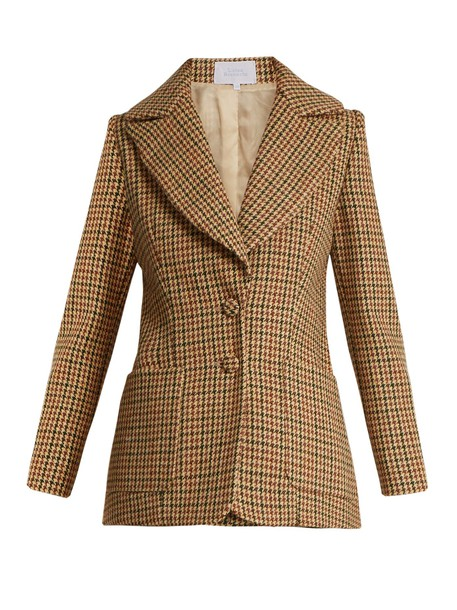 LUISA BECCARIA jacket wool jacket wool brown