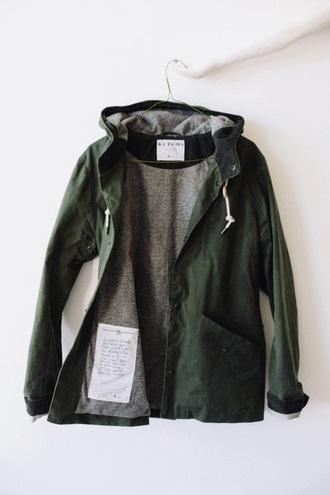 jacket green grey white warm zip button up sweatshirt