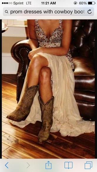 dress nude dress red sequin dress cowboy boots prom dress shoes