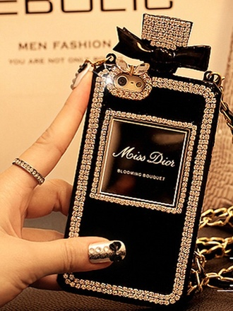 phone cover perfume girly dior iphone cover iphone glitter