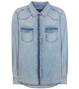 shirt denim shirt denim new blue top