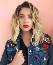 jacket,denim jacket,denim,ashley benson,instagram