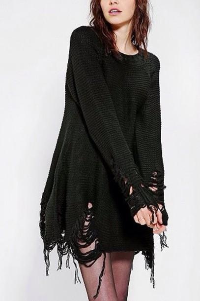 Punk Sweater Dress Sweater Sweater Dress Goth