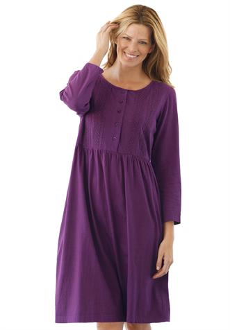 Dress With Button Down Crochet Front Plus Size Casual Dresses