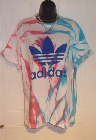unisex customised adidas grunge acid wash tie dye t shirt L | mysticclothing | ASOS Marketplace