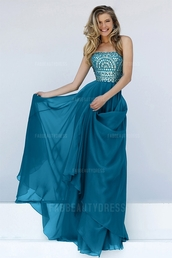 dress,long prom dress,blue prom dress,aqua,sleeveless dress,prom dress,evening dress