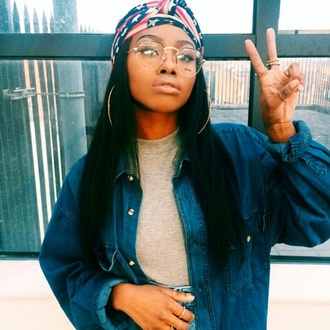 hair accessory scarf hair band head wrap black girl killing it black girls killin it sunglasses