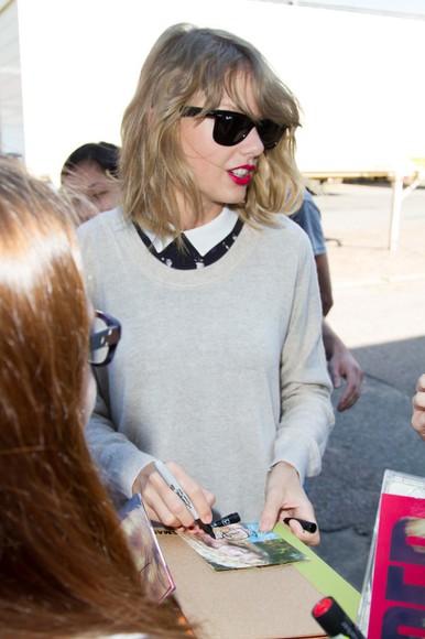 taylor swift blouse peter pan collar shades black shades