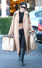 coat,taupe coat,kylie jenner,long nude coat,camel coat,long coat,trench coat,nude coat